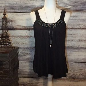 Byline Byer California Velvet Beaded Tank